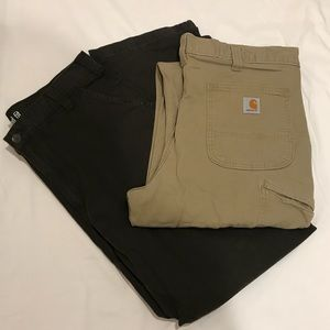 Rugged Flex Carhartt khakis bundle work pants